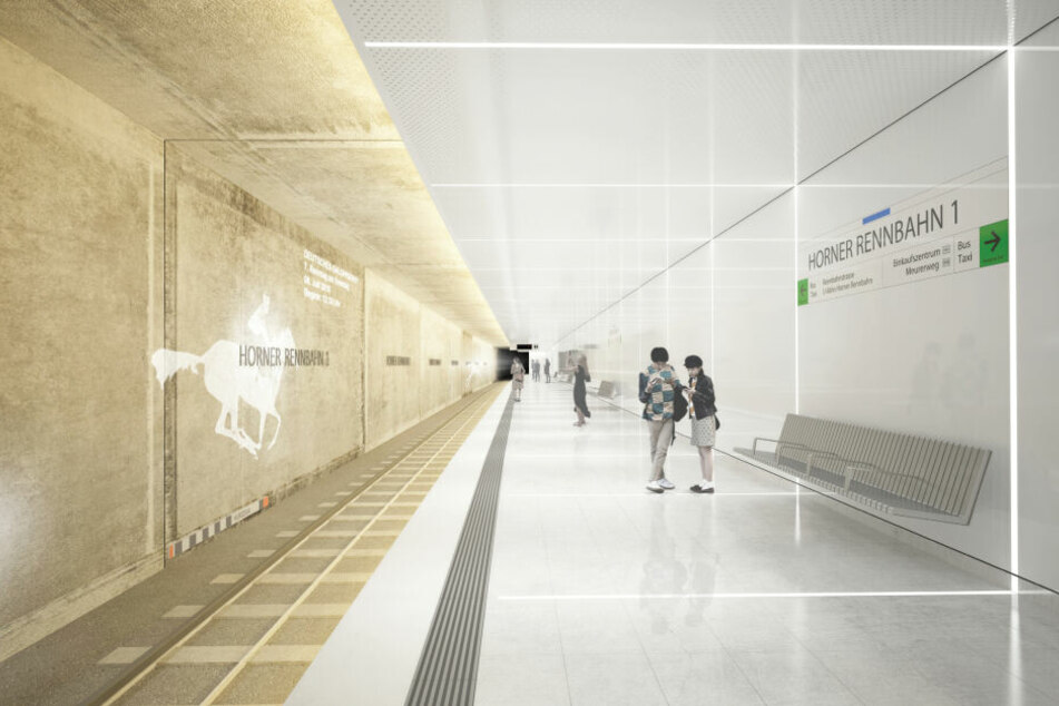 Verkehrsstaatsrat Andreas Rieckhof und Hochbahn-Chef Henrik Falk haben die Architekturentwürfe für die neuen U4 Haltestellen auf der Horner Geest vorgestellt.