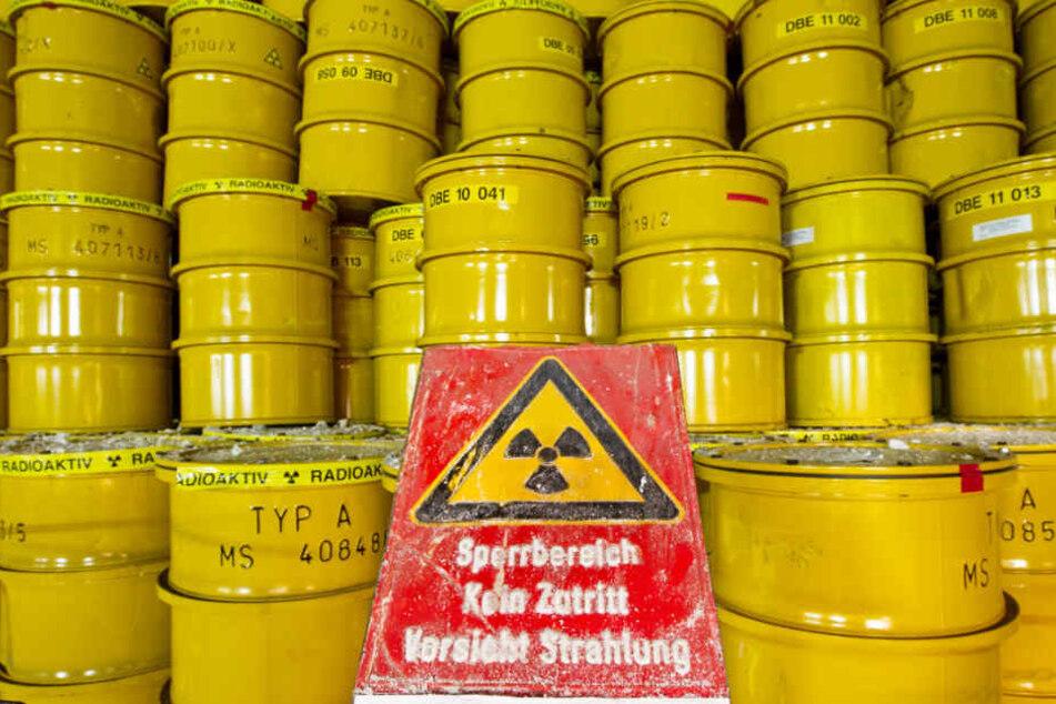 Etwa 500 Meter tief wird Atommüll in Fässern im Endlager Morsleben verstaut.