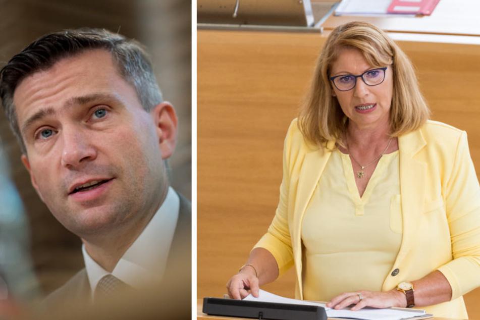Martin Dulig (SPD) und Petra Köpping (SPD) setzten sich für eine Treuhand-Wahrheitskommission ein.