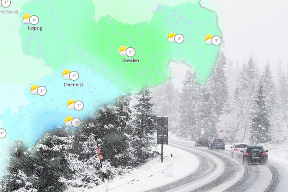 Das Wochenende bringt Schnee in den Bergen und Glätte auf den Straßen.