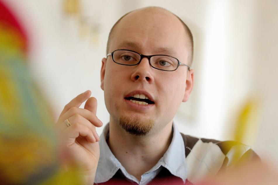 """David Statnik (33), Chef der """"Domowina"""", kämpft seit Jahren für die Belange der slawischen Minderheit in Sachsen."""