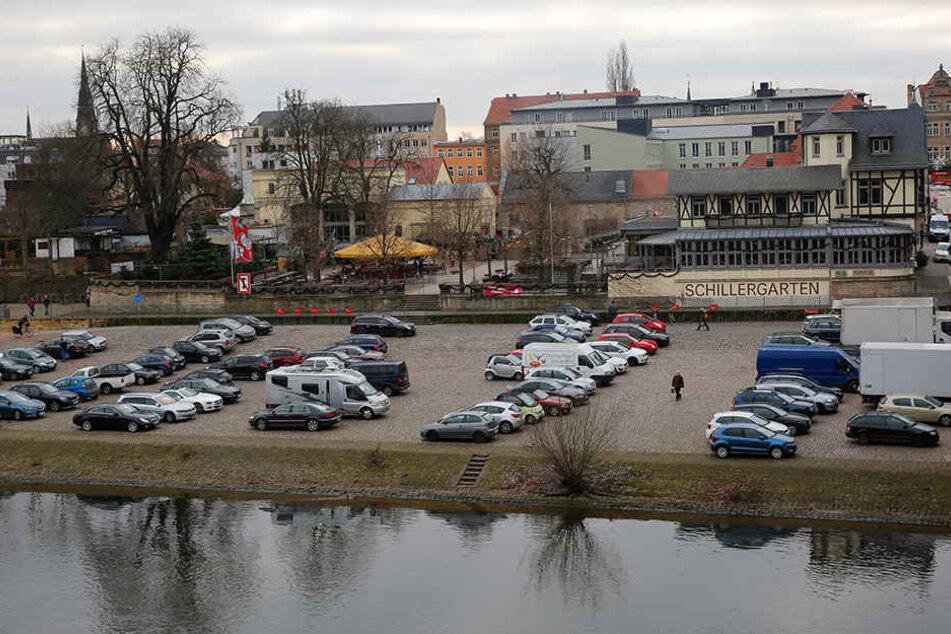 Am Blauen Wunder sollen künftig keine Autos mehr parken dürfen.