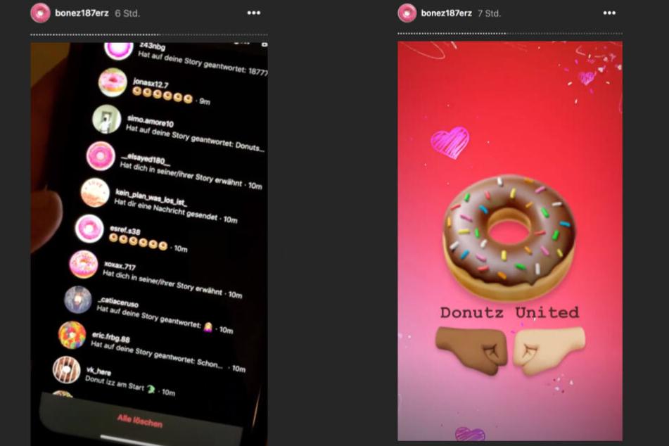 Wie Bonec MC bei Instagram dokumentiert, kamen viele Fans seinem Aufruf nach.