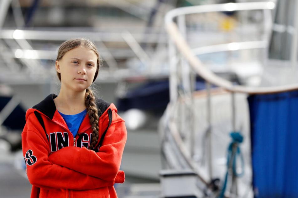 Greta Thunberg überquert gerade per Segelboot den Nordatlantik.