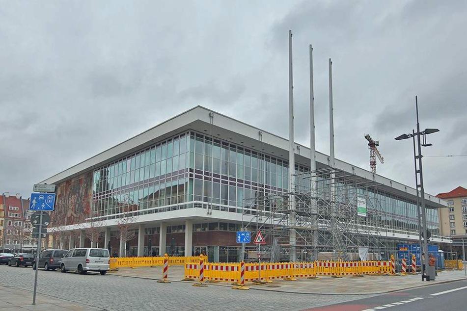 Der neue Kulturpalast ist fast komplett.