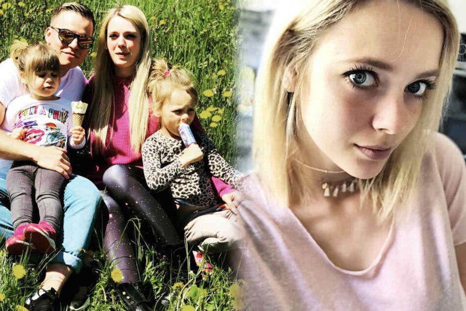 Anne mit ihrer Familie: Tochter Juna (2), ihr Verlobter Henning und Tochter Miley (5).