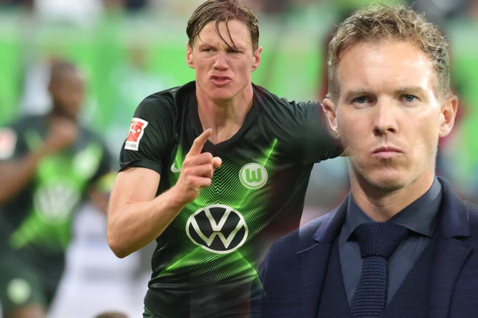 Einen Wolfsburger Stürmer hat Nagelsmann besonders im Blick.