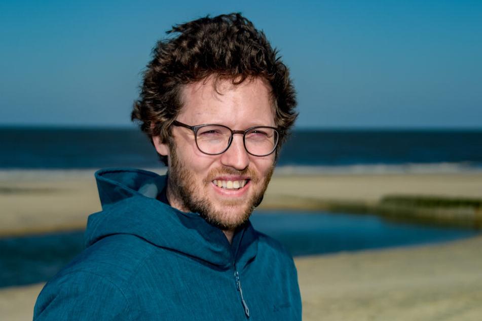 Küstenschutzminister Jan Philipp Albrecht (Grüne) begutachtete die Strände der Insel.