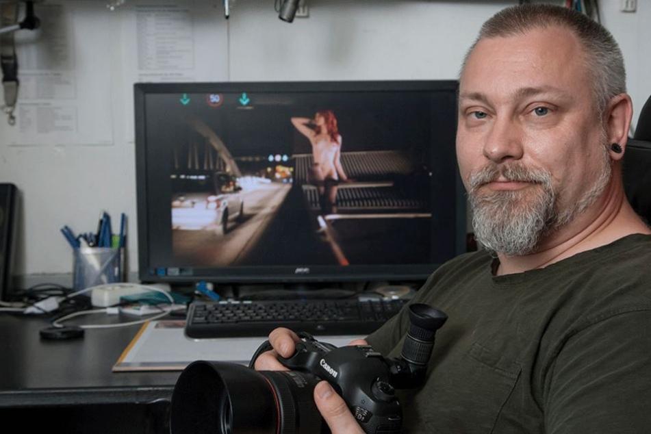 Will künstlerisch anspruchsvolle Aufnahmen machen: Fotograf Jürgen Schulz (45) zeigt Dresden schönste Seiten.