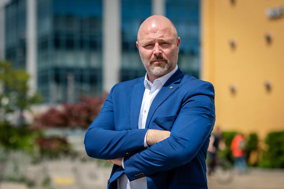 Nico Köhler (44, AfD) hält die Stadtrat-Ablehnung des Parkhauses am Kaßberg für politisch motiviert und realitätsfern.