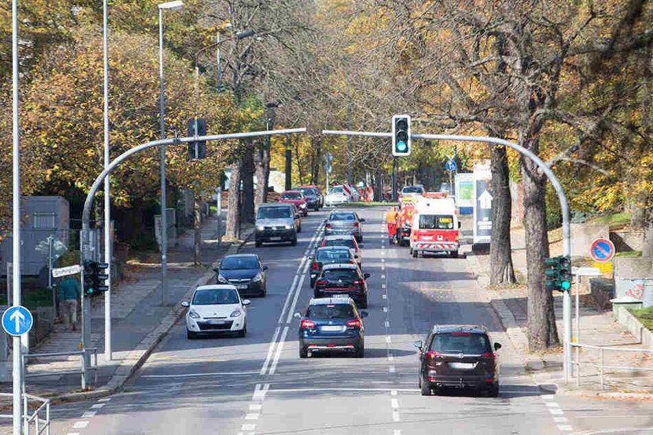 Auf der Reichsstraße gibt es ab dem Stephansplatz und der Wielandstraße Fahrbahneinschränkungen.