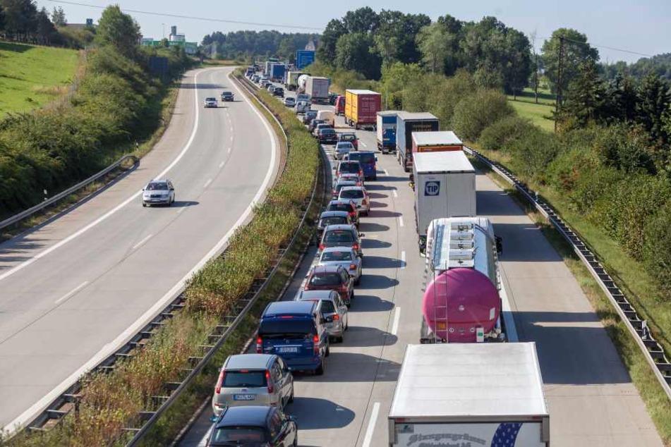 Die A72 bei Plauen wird ab Dienstag zur Staufalle für Autofahrer.