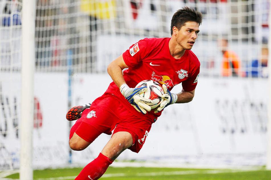 Benjamin Bellot am 29. August 2014 im Zweitliga-Einsatz für RasenBallsport Leipzig in der 2. Bundesliga beim FSV Frankfurt (0:0).