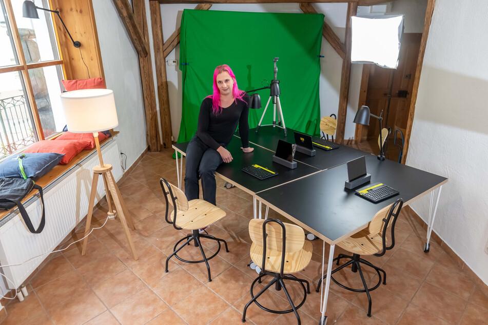 Augustusburg eröffnet bald den kleinsten Co-Working Space in Sachsen - Danielle Tändler betreut das Projekt.