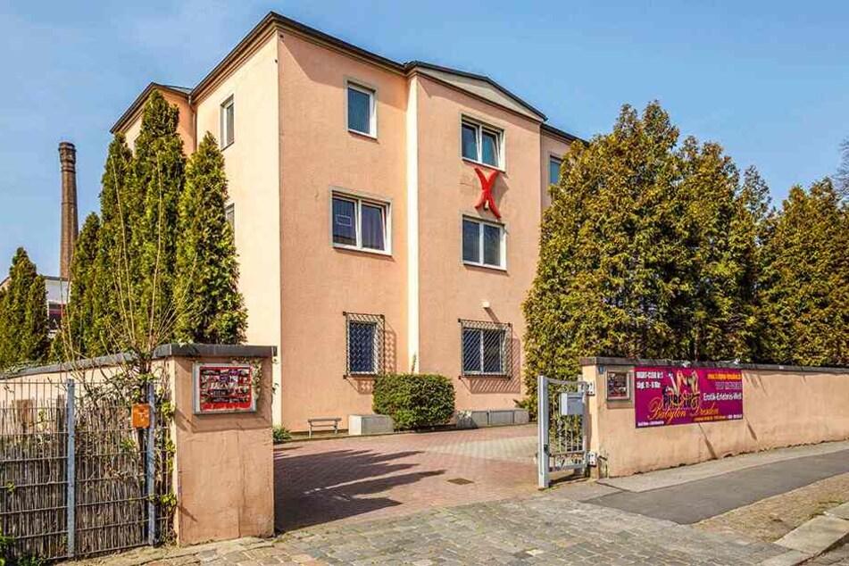 """Ein Eldorado für Freunde der käuflichen Liebe: Das """"Babylon"""" in der Zwickauer Straße."""