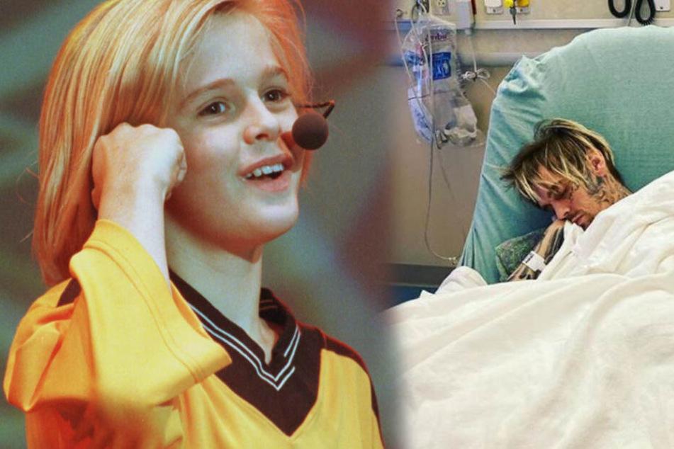 Aaron Carter abgemagert im Krankenhaus: Bestürzender Post auf Instagram!