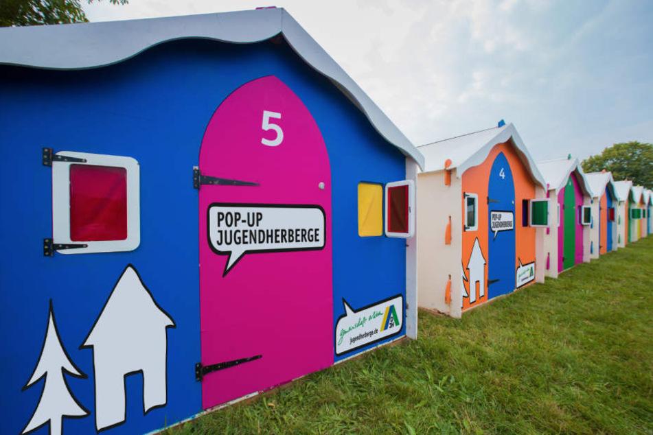 Für die Gamescom wird vom Deutschen Jugendherbergswerk eine Pop-Up-Unterkunft errichtet.