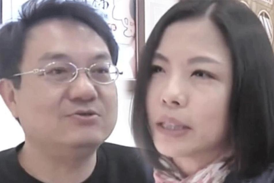 Lian Zhicheng und seine Freundin Lin Xiaofen in einem Interview.