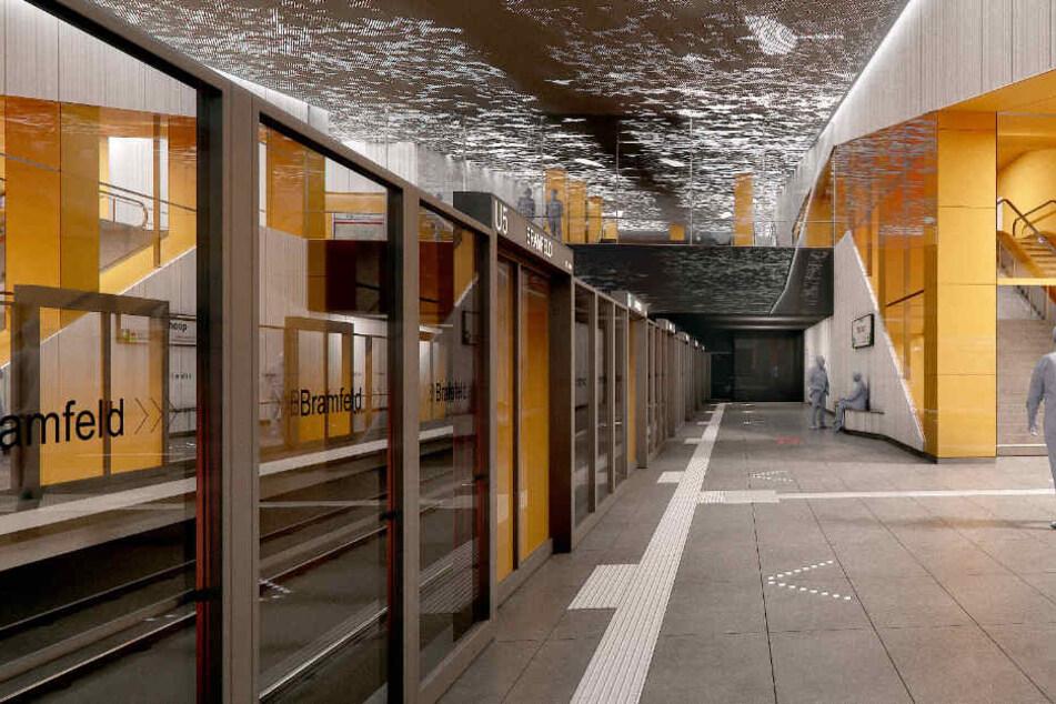 So soll die Haltestelle Bramfeld in der Zukunft aussehen.