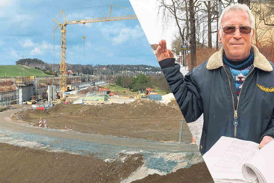 Crossens Ortsbürgermeister Stefan Kramer (70) ahnt: Es warten noch weitere Wismut-Überraschungen im Boden.