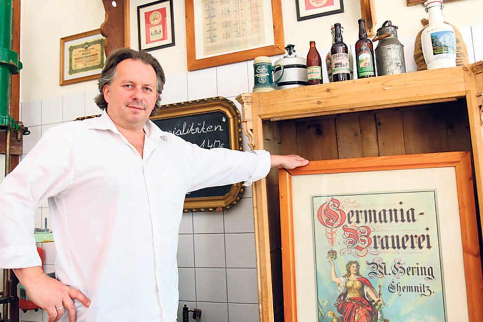 Messebauer Hartmut Schäfer (47) hat der ehemaligen Germania-Brauerei mit einer kreativen Idee wieder Leben eingehaucht.