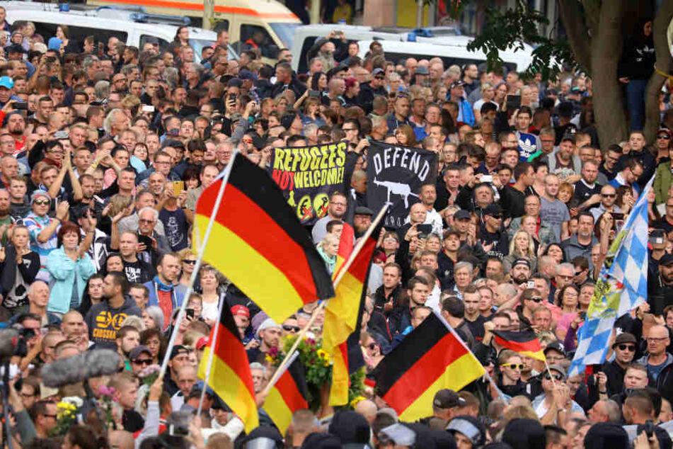 Am Montag kam es bereits zu Protesten in Chemnitz.