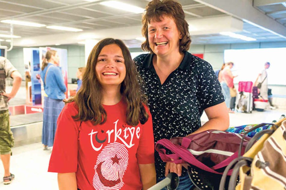 Daniela Trodler (44) mit Tochter Nadine (16) aus Reichenbach (Landkreis  Görlitz).