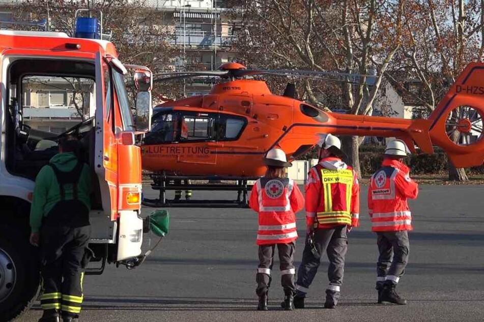 Der Mann musste wegen der schweren Verbrennungen in ein Krankenhaus geflogen werden.