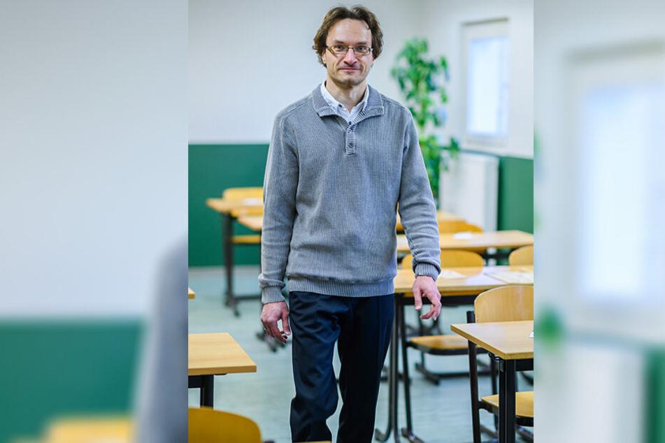 Dirk Hauschild (40) gründet die Oberschule mit seinem Kollegen Ulrich Hertel (40).