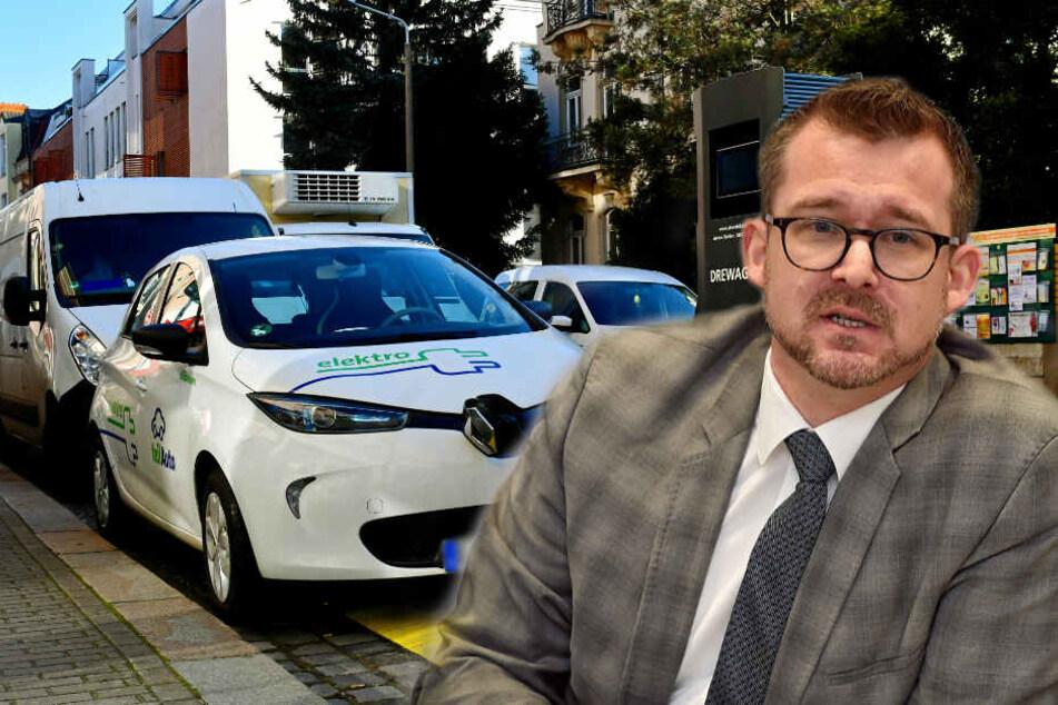 Neue Parkgebühren in Dresden: E-Mobile und Carsharing-Autos sollen profitieren