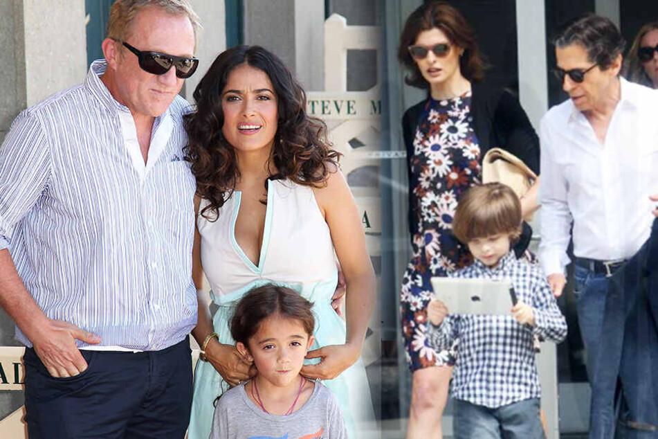 Mit Salma Hayek hat Pinault eine Tochter (links), mit Model Linda Evangelista (rechts) einen Sohn.
