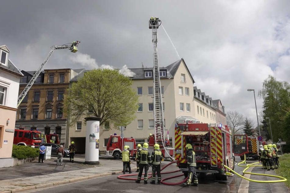 Die Feuerwehr musste in die Augustusburger Straße ausrücken.
