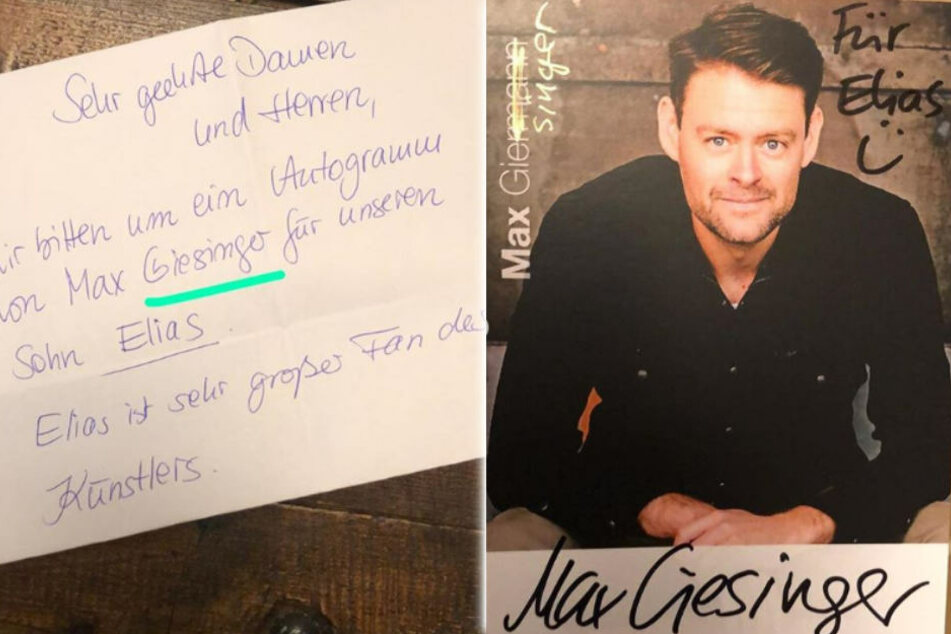 Die witzige Autogrammkarte von Max Giermann alias Max Giesinger.