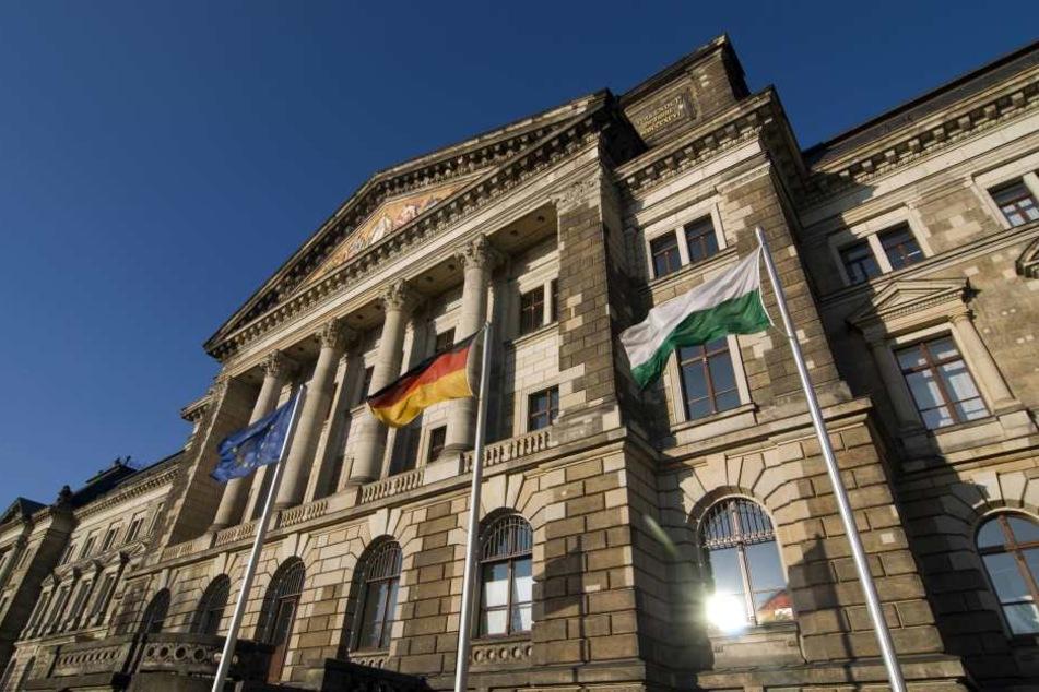 Sachsens Steuerschatzkammer: das Finanzministerium in Dresden.