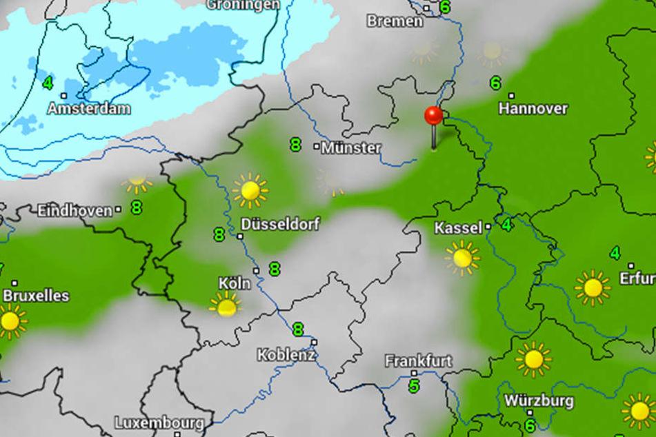 Zur Mitte der Woche zeigt sich die Sonne, davor und danach sind vor allem Wolken und Regen vorherrschend.