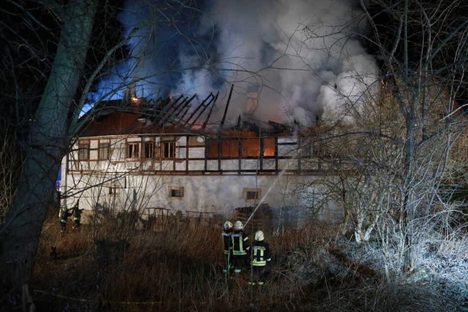 In der Nacht brannte es in Ullendorf.