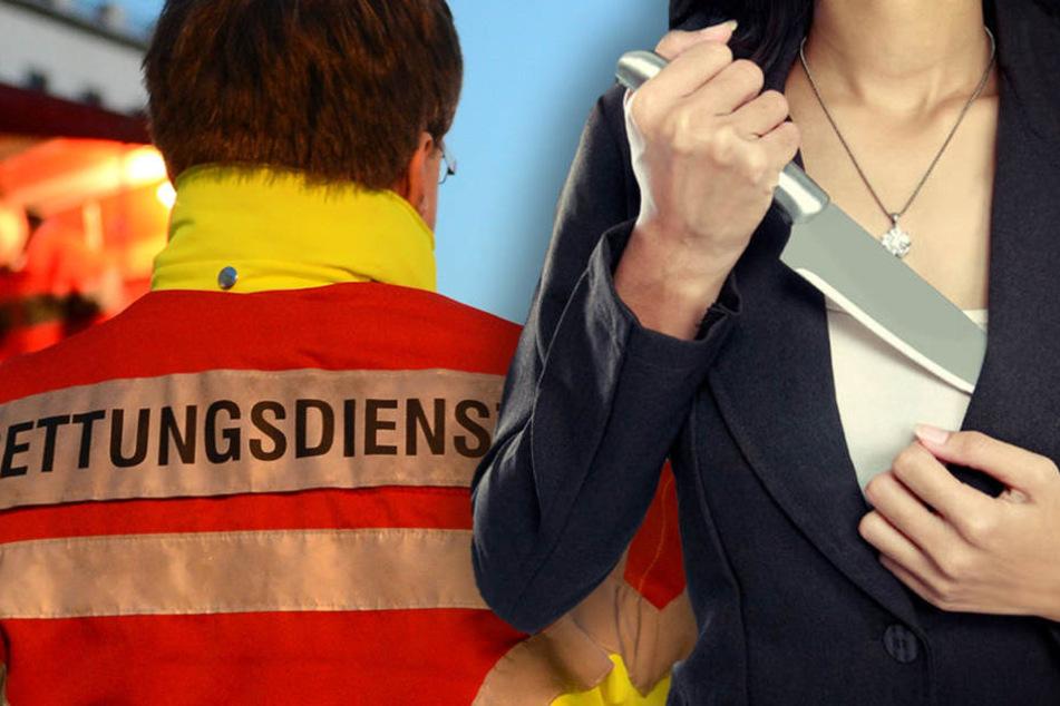 Rettungskräfte wurden in Berlin Weißensee von einer 21-Jährigen mit einem Messer bedroht. (Symbolbild)