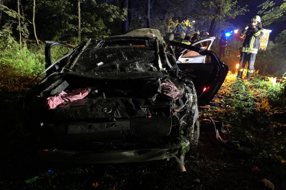 Die Salzufler Straße musste für die Unfallaufnahme etwa zwei Stunden gesperrt werden.