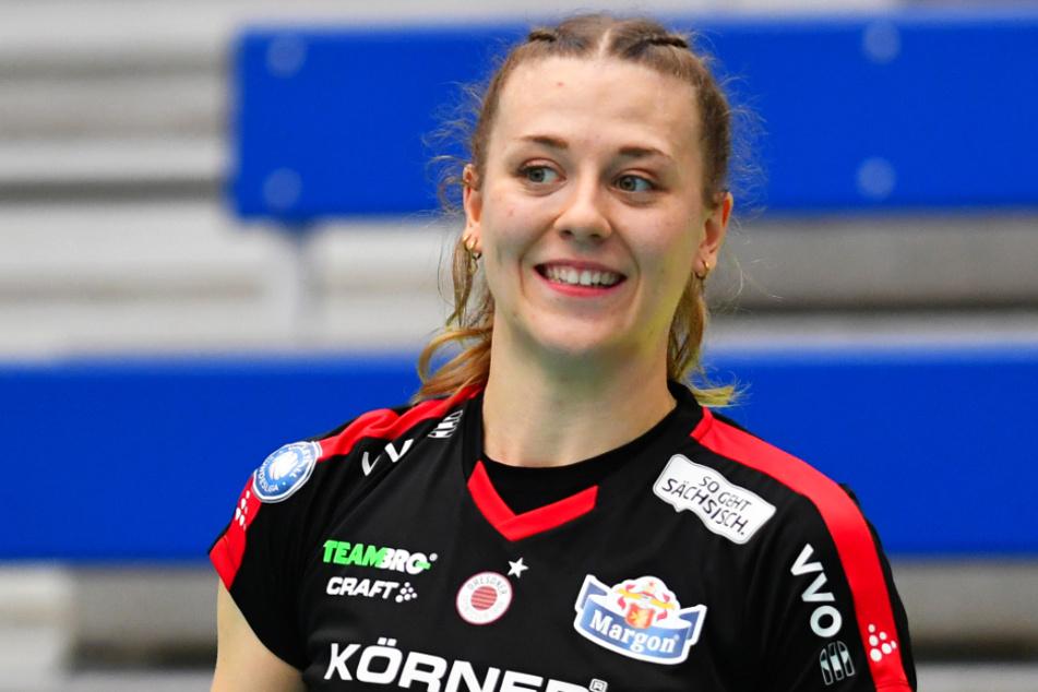 Maja Storck machte es den Straubingerinnen mit den Hammer-Aufschlägen brutal schwer, den Ball anzunehmen.