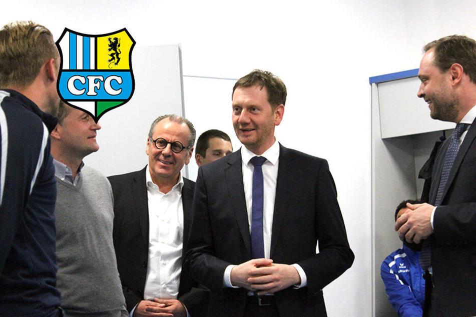 MP Kretschmer stärkt CFC nach Nazi-Skandal den Rücken