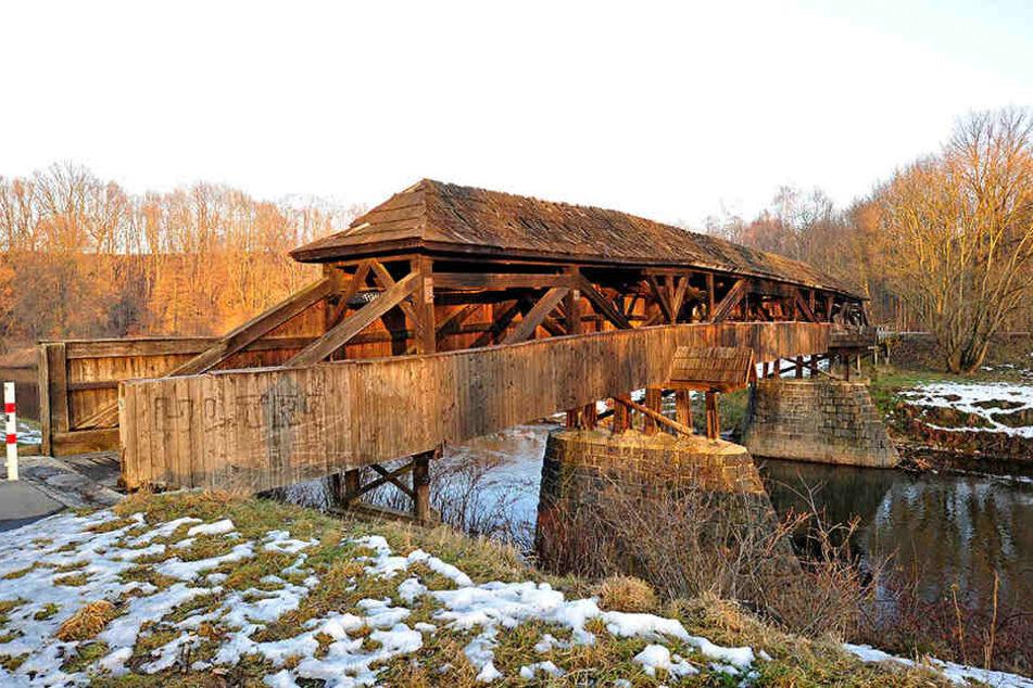 Der Röhrensteg ist die älteste Holzbrücke Sachsens und hat eine Sanierung dringend notwendig.