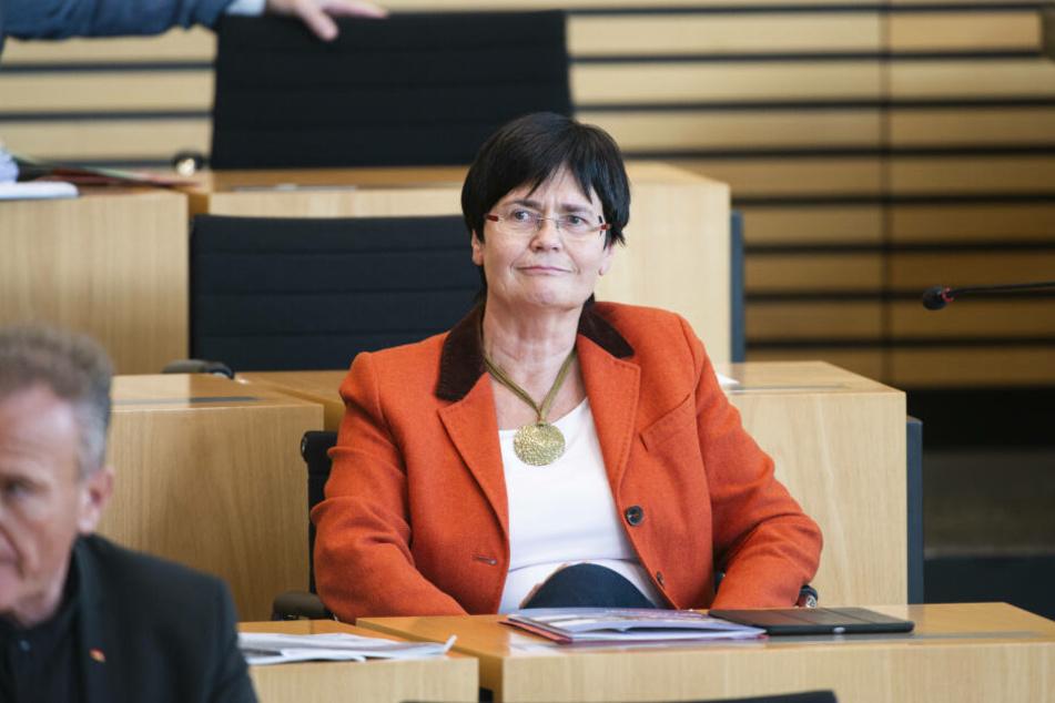 Christine Lieberknecht bei einer Parlamentssitzung.