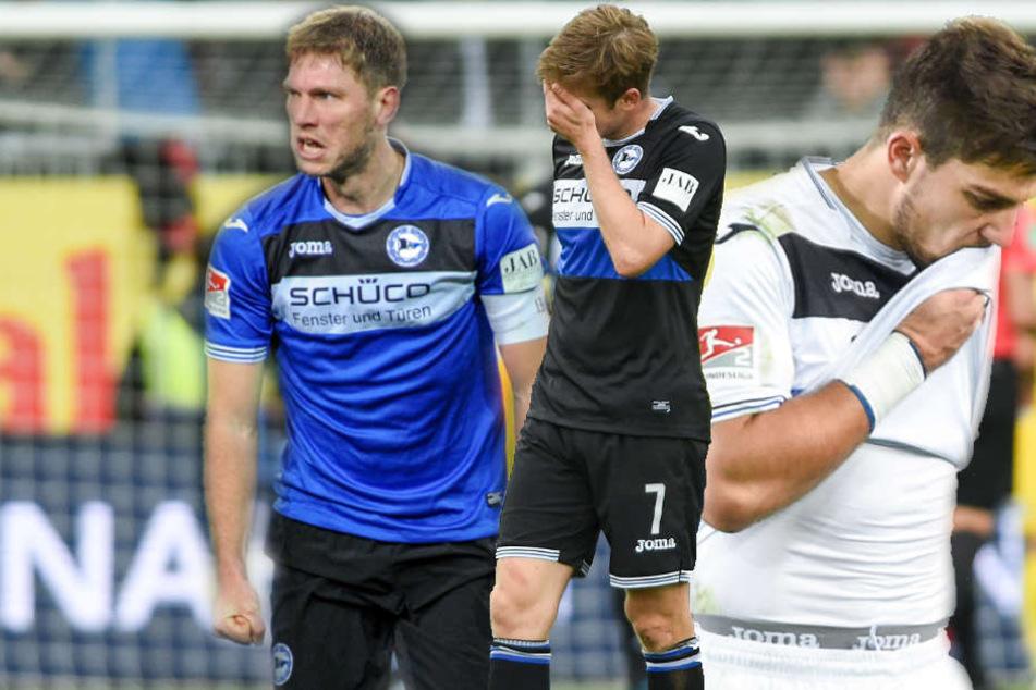 Saibene hofft darauf, dass Fabian Klos, Patrick Weihrauch und Stefan Ortega (v. li. n. re.) bis zum Union-Spiel am Montag wieder fit werden