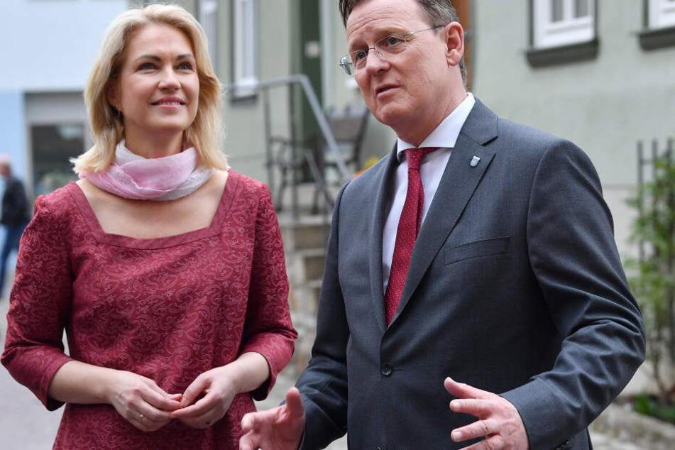 Manuela Schwesig und Bodo Ramelow bei der Ost-Ministerpräsidentenkonferenz früher in diesem Jahr.