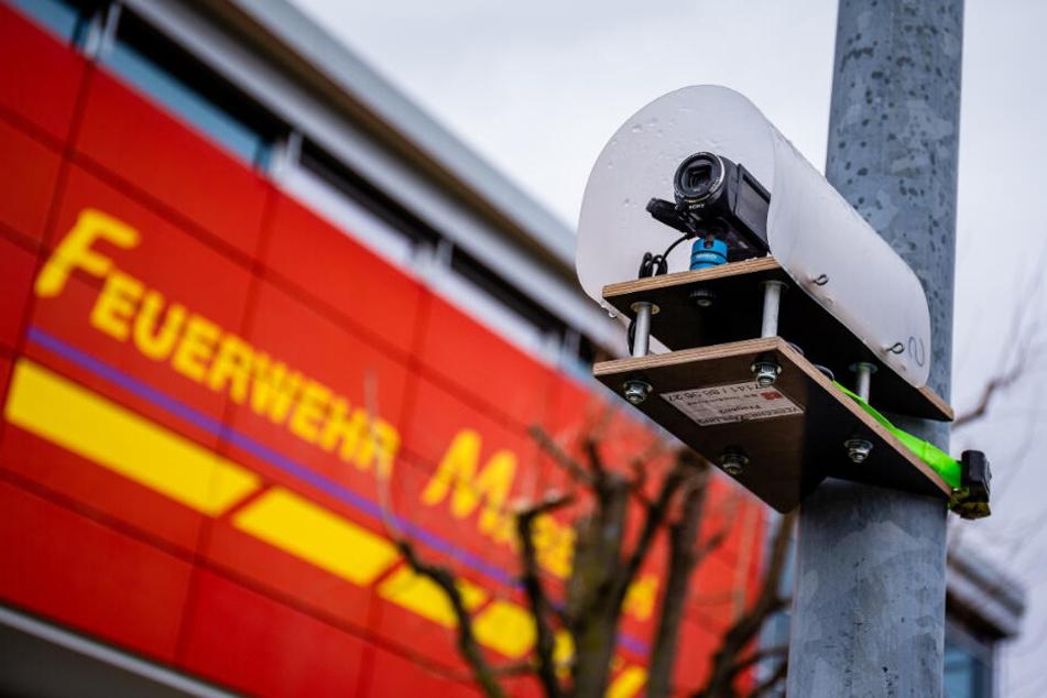 Solche Kameras waren am Donnerstag in ganz Marbach zu sehen.