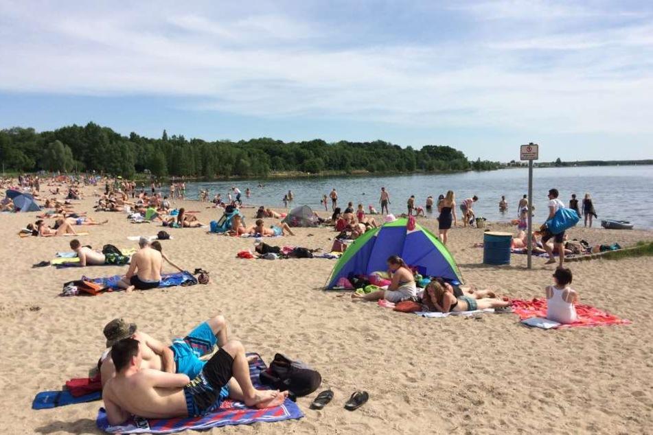 Mehrere Badegäste wurden am Strand des Cospudener Sees am Donnerstagnachmittag von einem Dieb beklaut. (Archivbild)