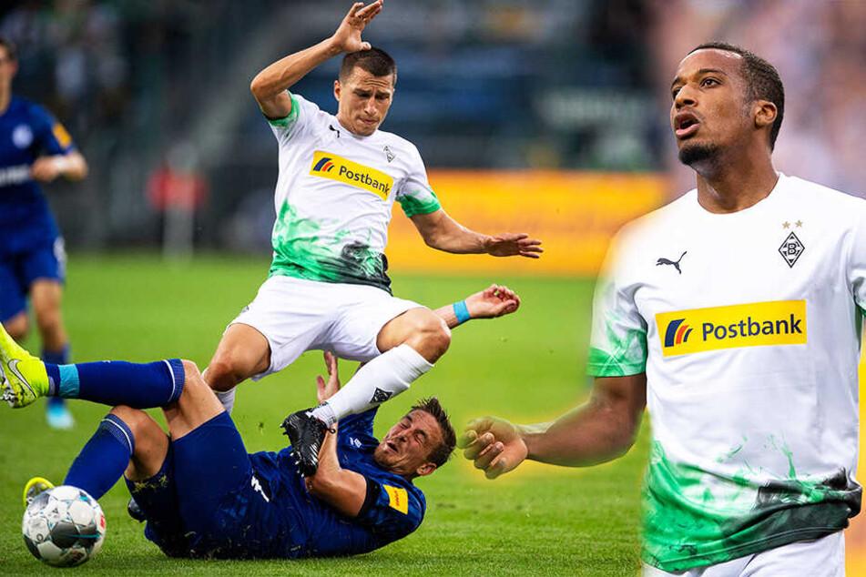 Viel Kampf, wenig Torchancen: Gladbach und Schalke spielten 0:0, was auch daran lag, dass Alassane Plea (r.) die beste Möglichkeit vergab. (Bildmontage)
