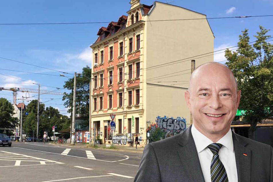 Für den Bundestagsabgeordneten Thomas Feist besteht Connewitz aus mehr als nur dem Conne Island oder dem Werk 2.