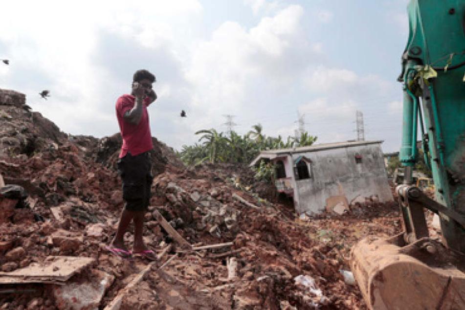 Schreckliches Unglück in Sri Lanka: Der Einsturz einer Mülldeponie hat zahlreichen Menschen das Leben gekostet.