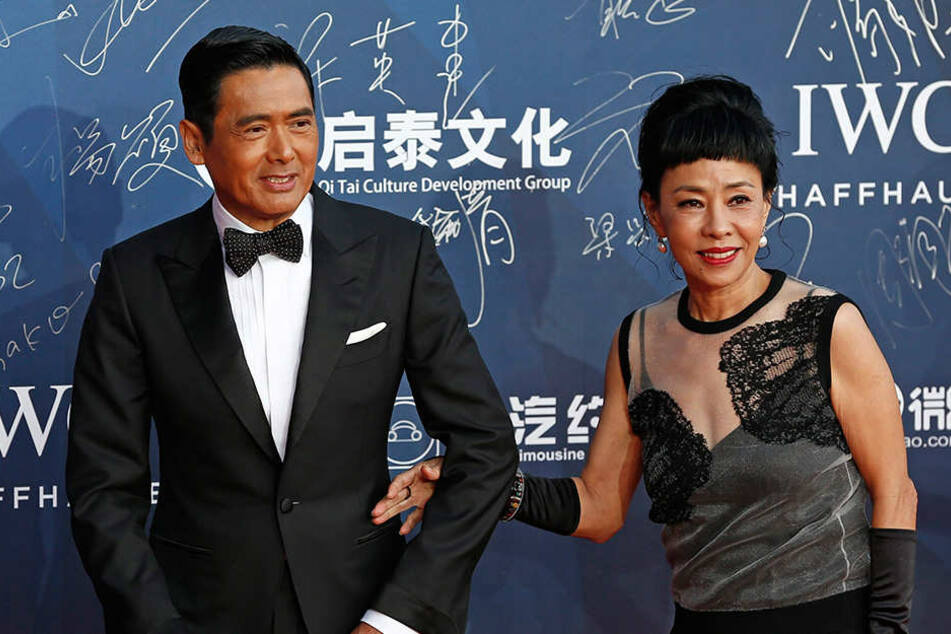 Chow Yun-Fat mit seiner Frau Jasmine Tan.